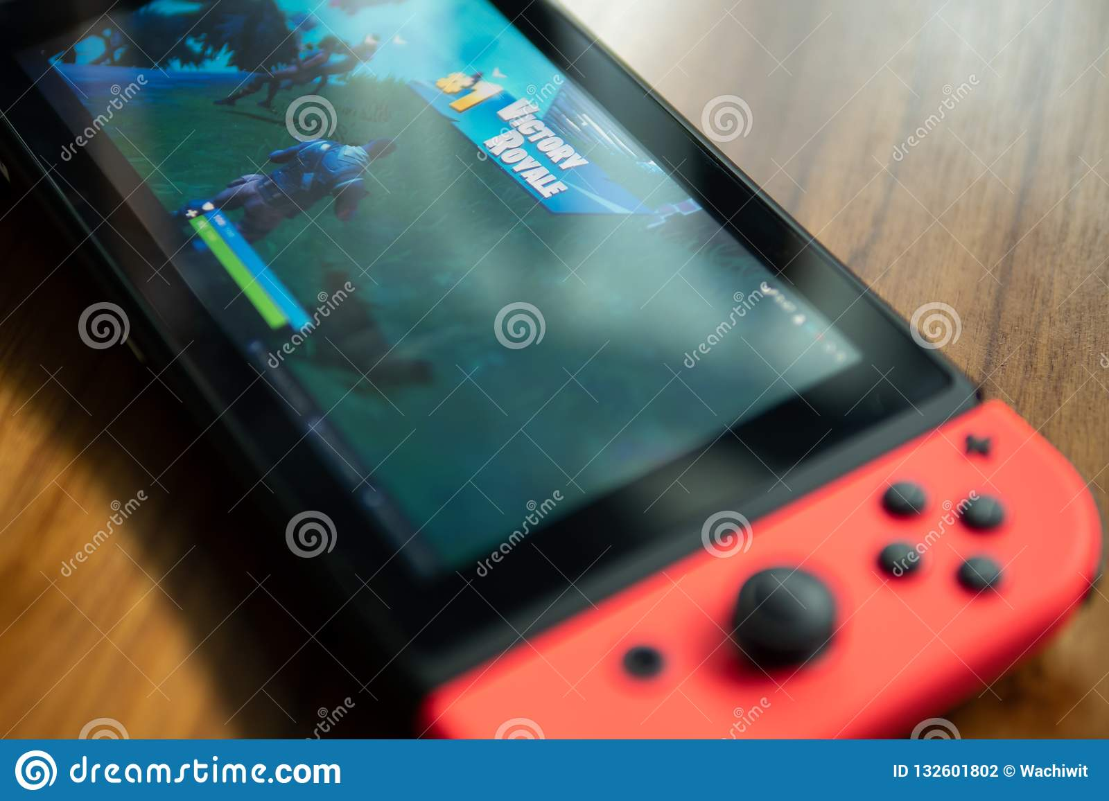 Nintendo Switch with Fortnite game