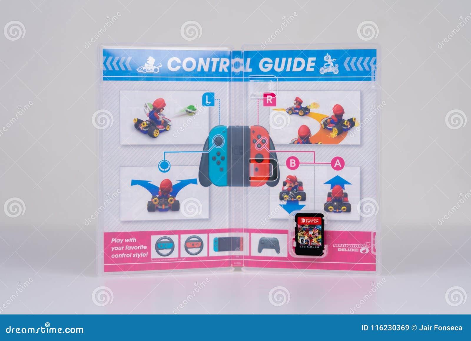 Nintendo Switch Mario Kart Deluxe 8 Editorial Stock Image
