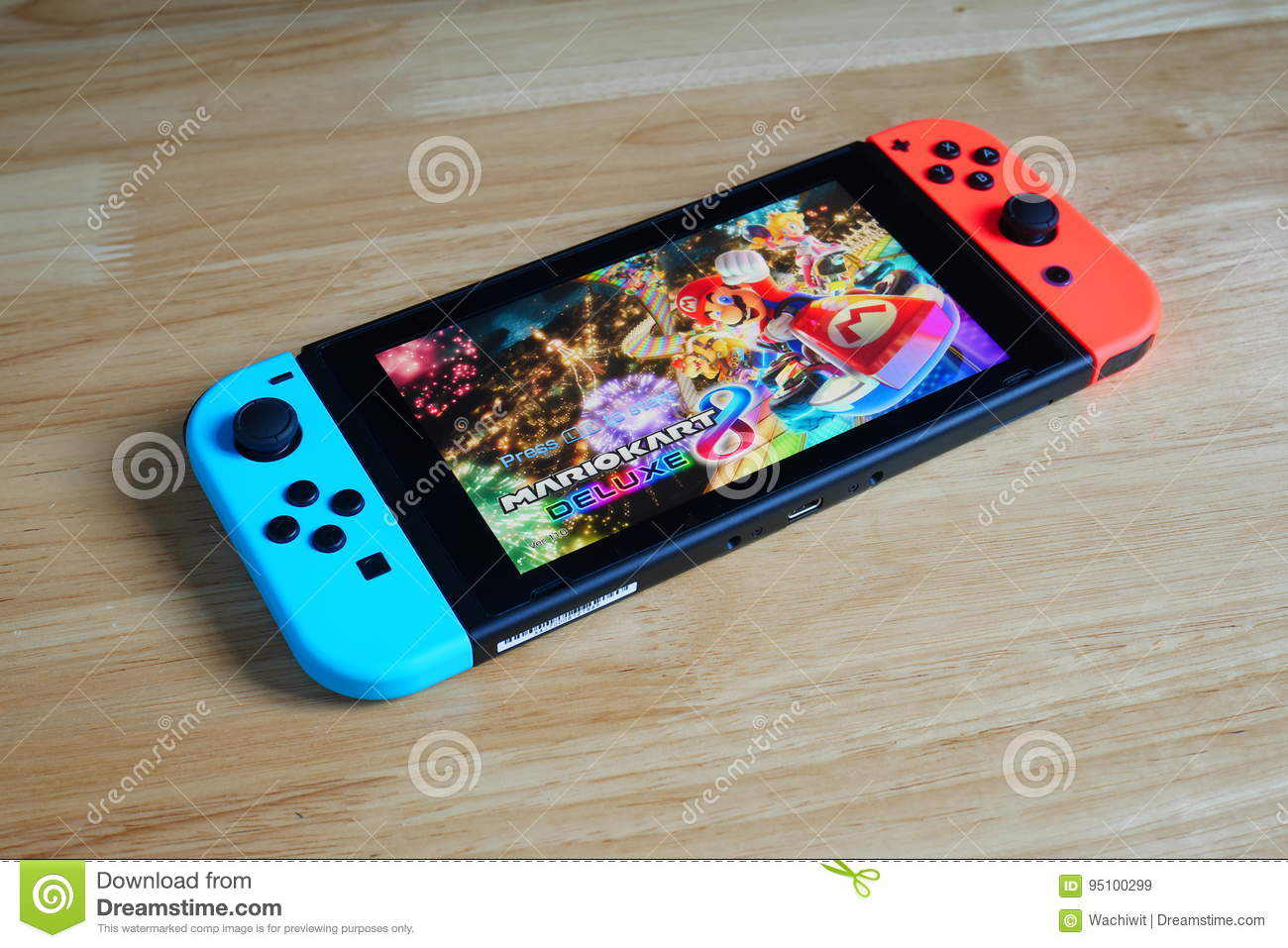 Nintendo Switch Showing Its Screen With Mario Kart 8 Deluxe