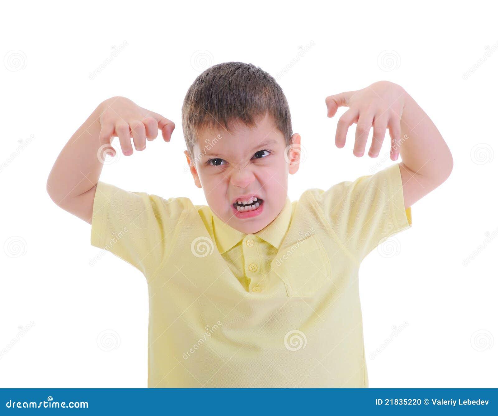 Ni o peque o enojado foto de archivo imagen 21835220 - Foto nino pequeno ...