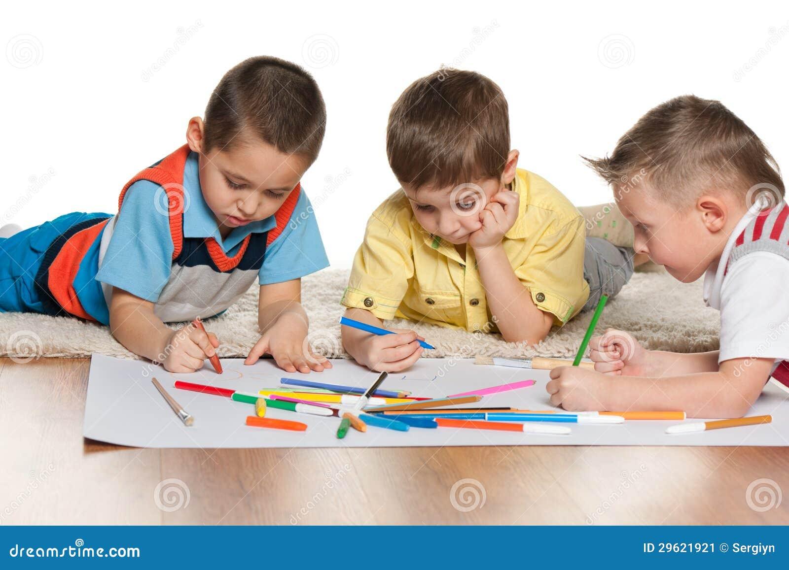 Image Gallery ninos dibujando