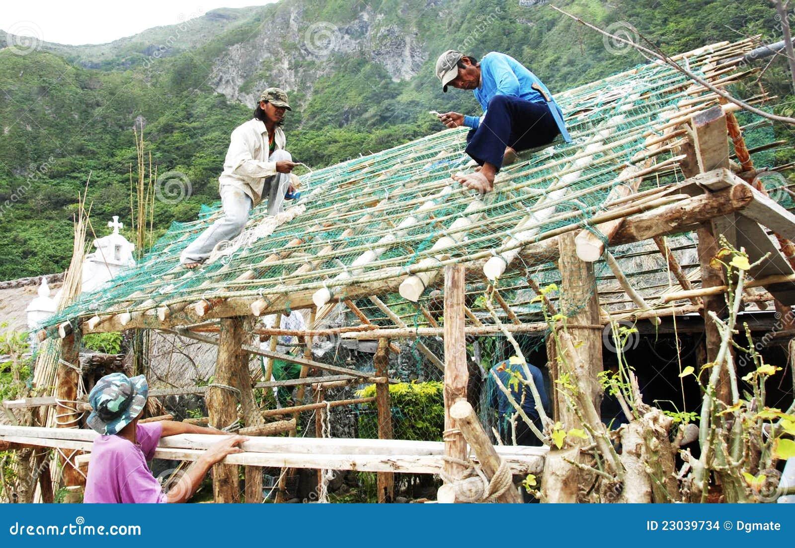 Nipa Hut Bayani... Nipa Hut Construction