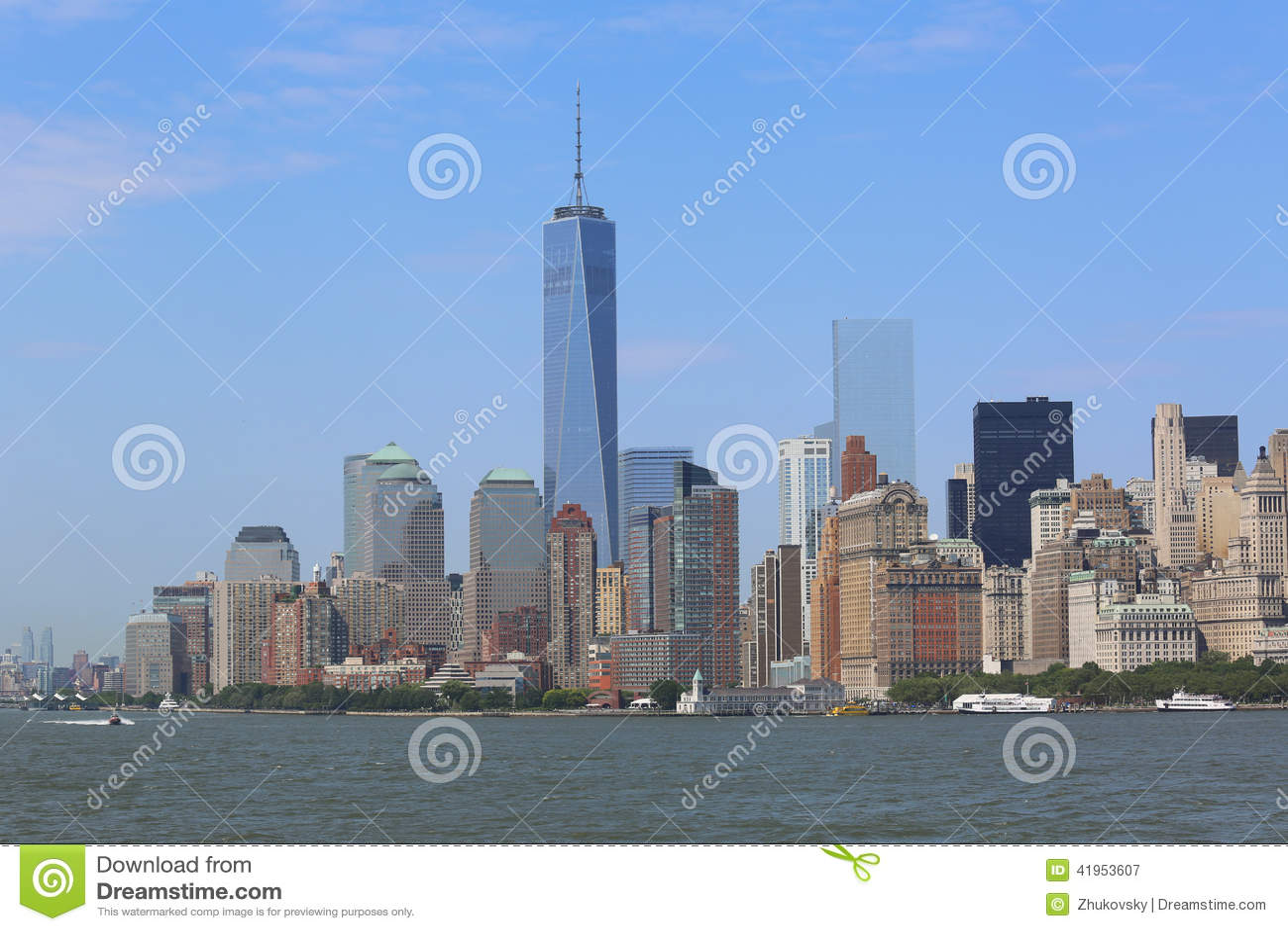 Niska Manhattan panoramy linia horyzontu