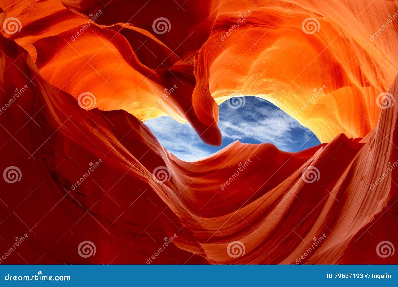 Niski antylopa jar, Arizona, usa