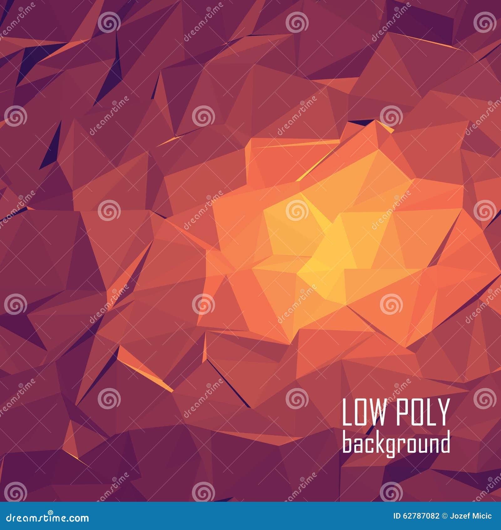 Niski poli- 3d abstrakcjonistyczny wektorowy tło jaskrawy