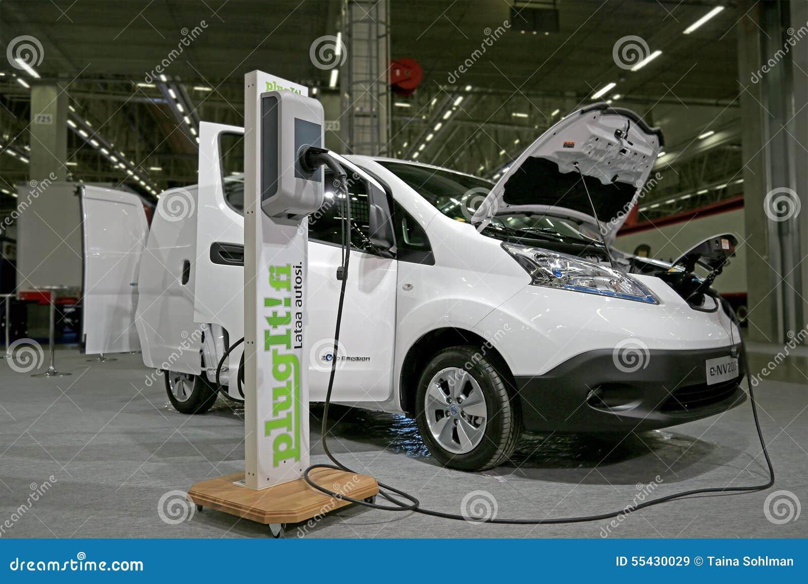 Nissan Electric Van E Nv200 Elektrisch Van Charging Battery