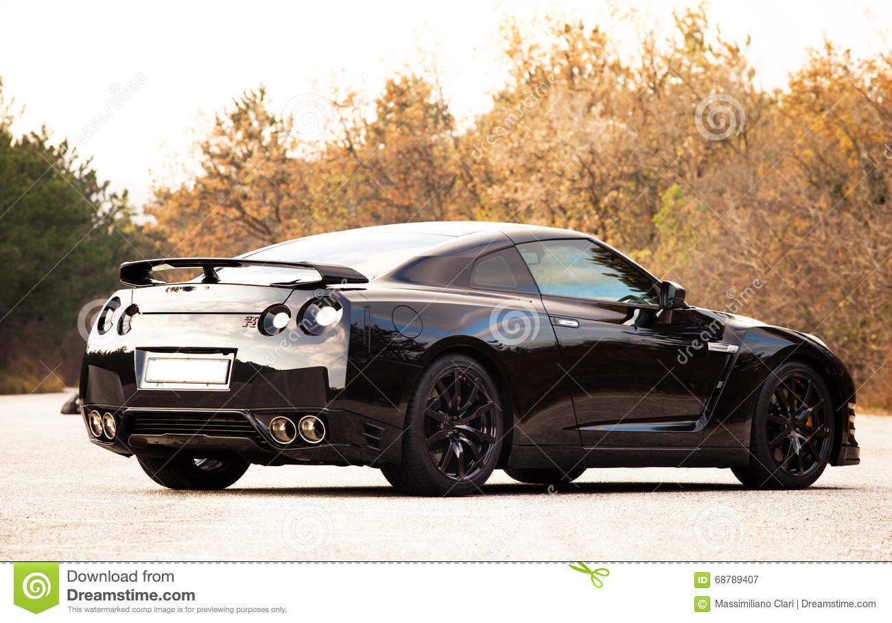 Nissan Gtr Black Edition Editorial Photography Image Of Japanese