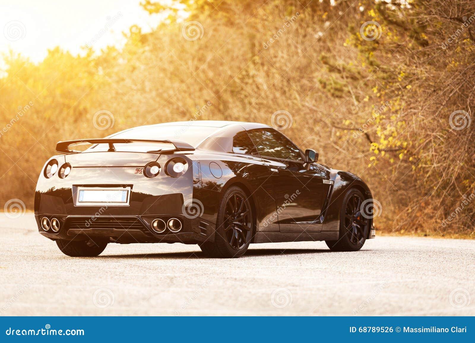 Nissan Gtr Black Edition Editorial Photo Image Of Shiny 68789526