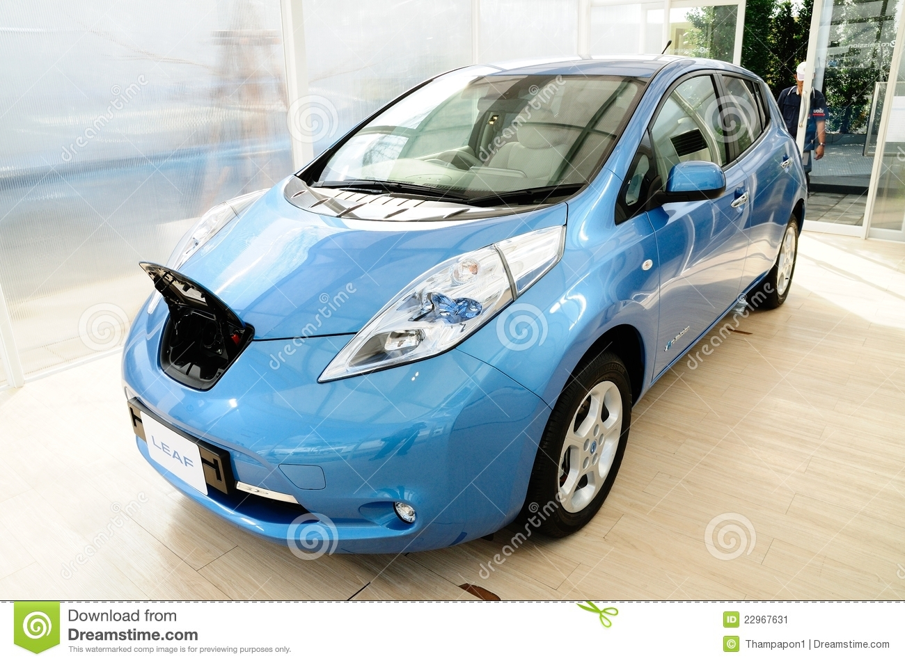 Nissan Leaf Electronic Power Car Editorial Photo Image