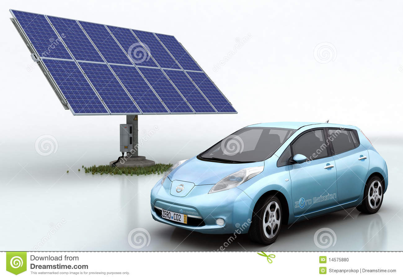 Nissan Leaf with Solar Set