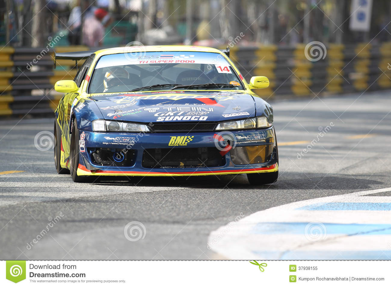 Nissan Silvia S14 action in thailand super series