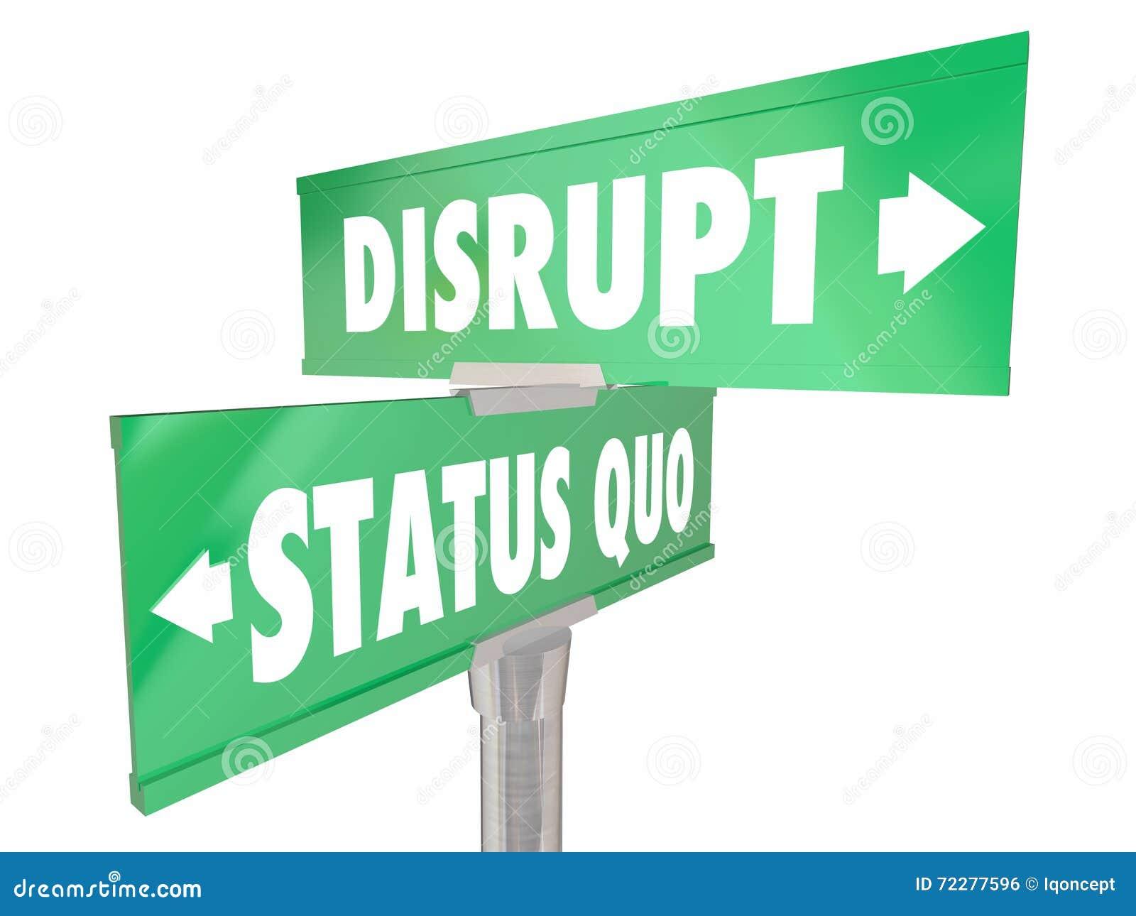 Niszczy status quo Dwa 2 sposób drogi znaka ulicznego
