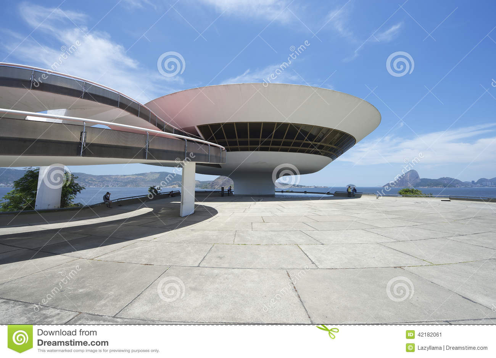 Niteroi Museum Rio de Janeiro Brazil Entrance