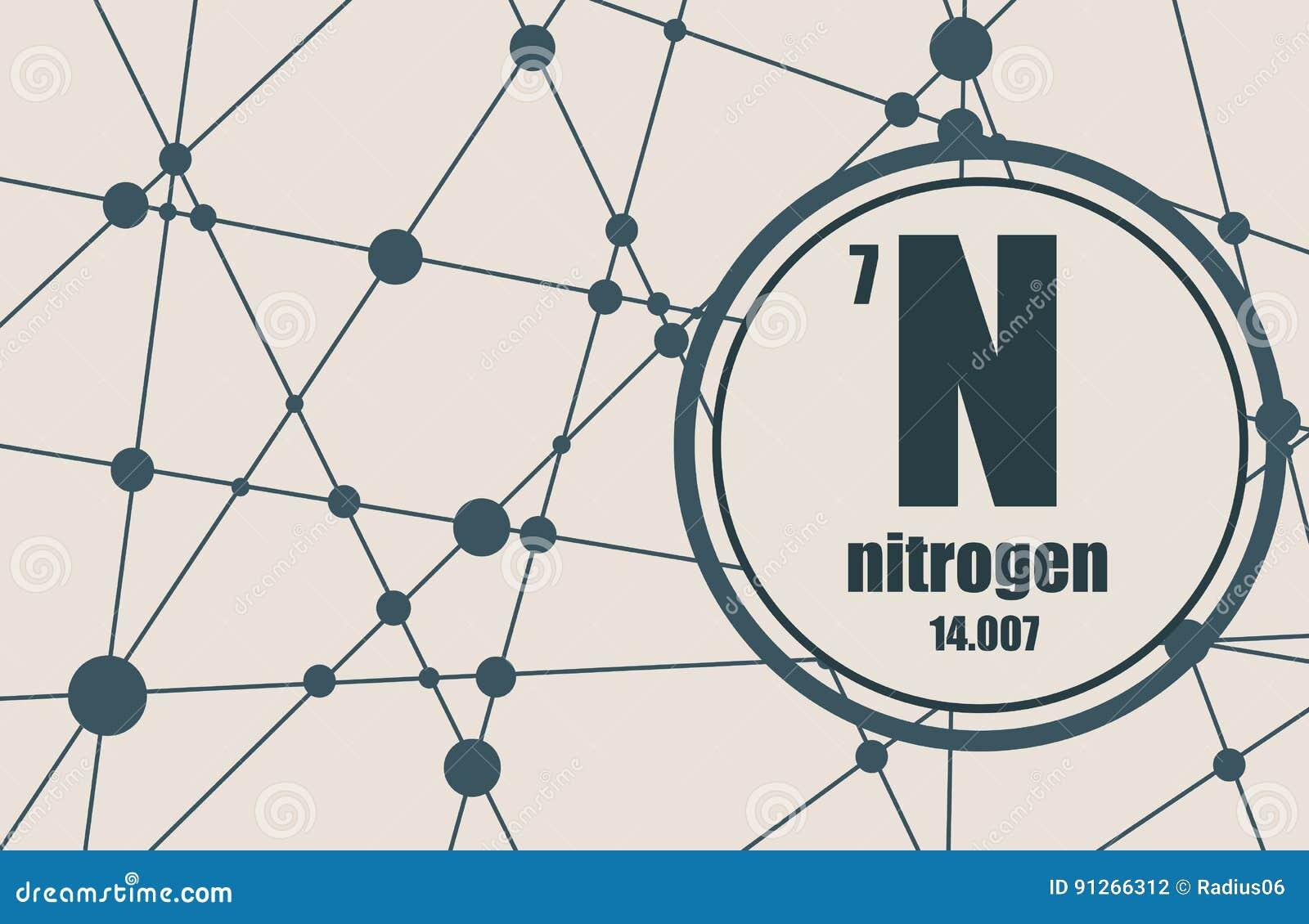 Nitrogen chemical element stock vector illustration of mendeleev download comp urtaz Gallery
