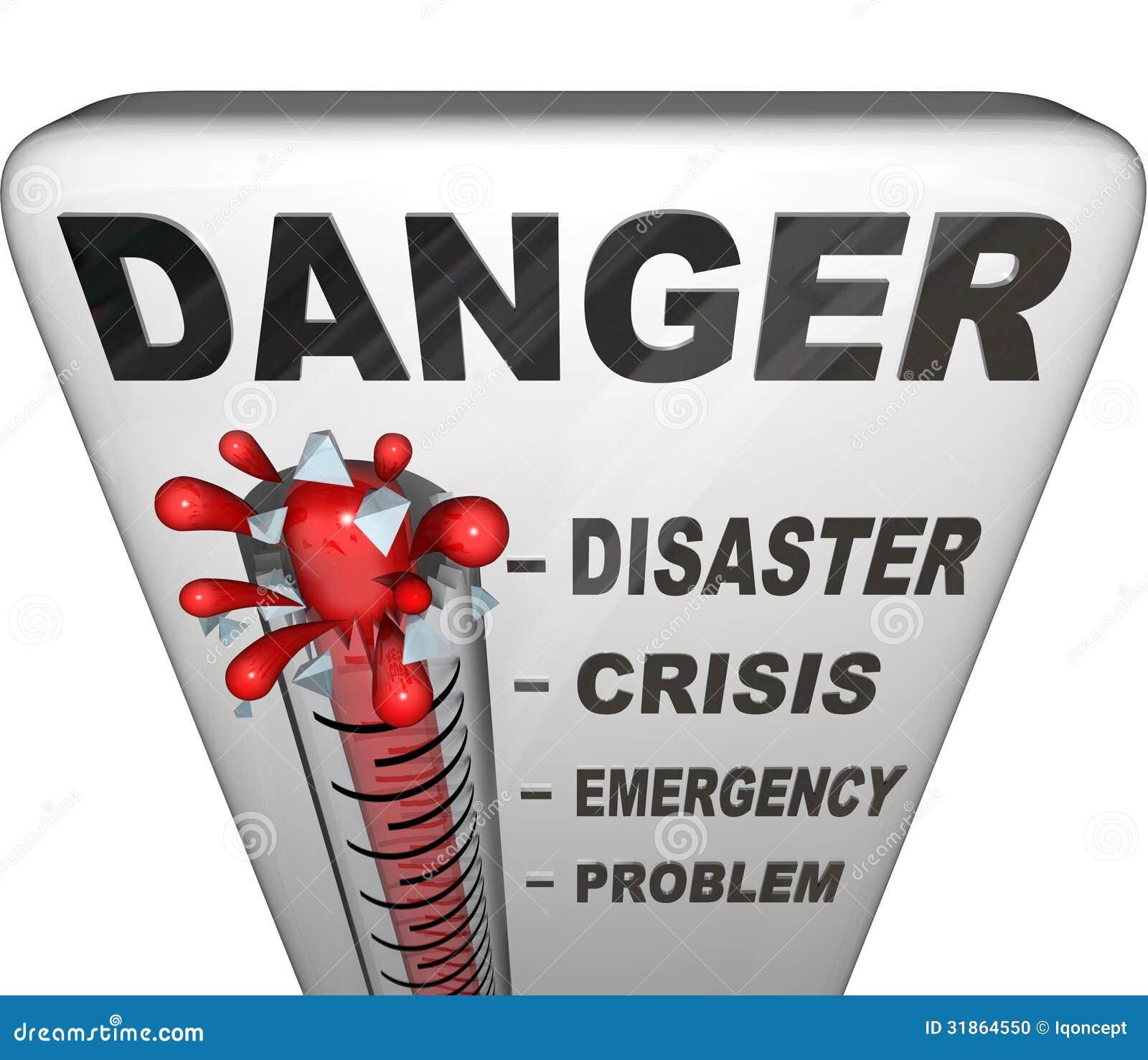 Niveaux de mesure de thermomètre de danger de l urgence