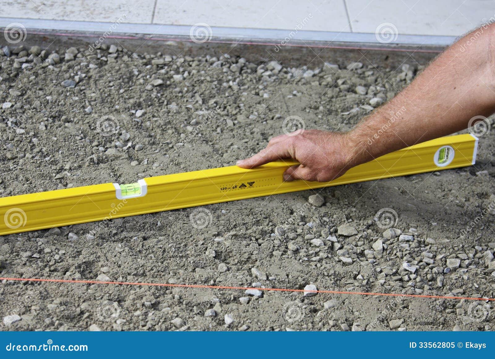 Nivelación de la tierra para pavimentar