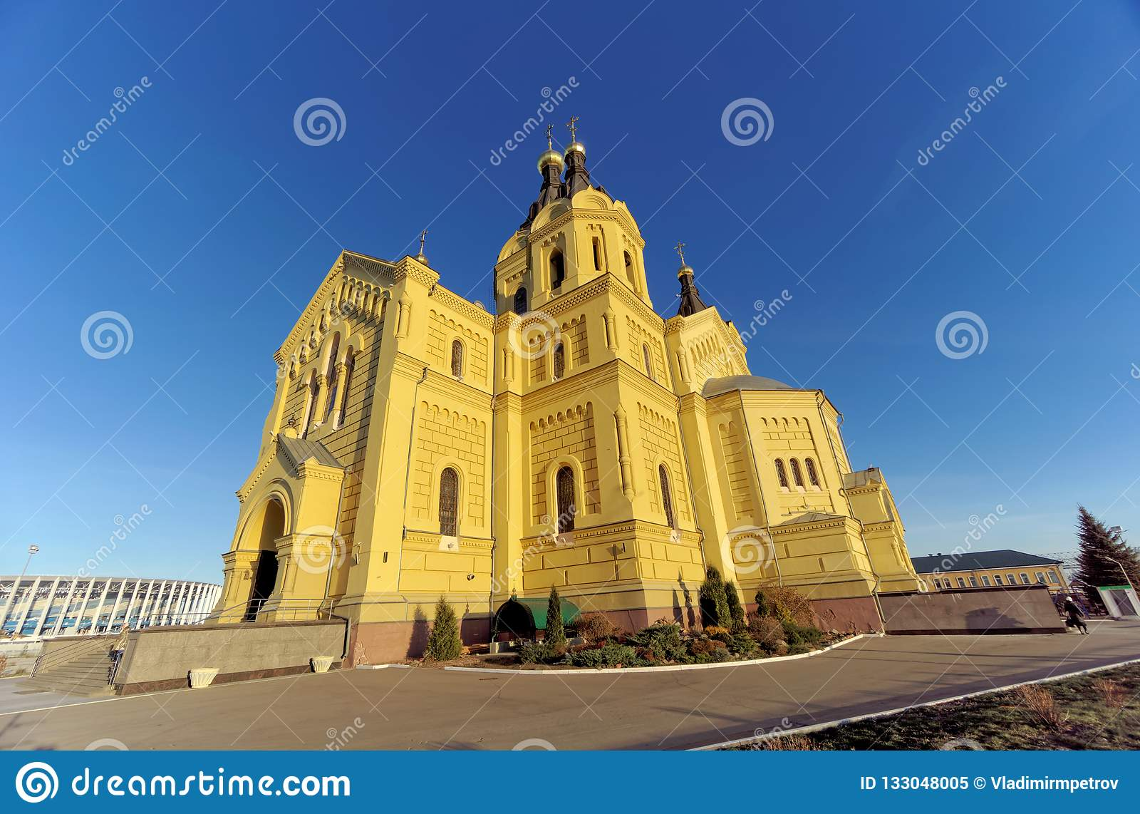 Nizhny Novgorod, Rússia - 16 de novembro 2018 A catedral de Alexander Nevsky
