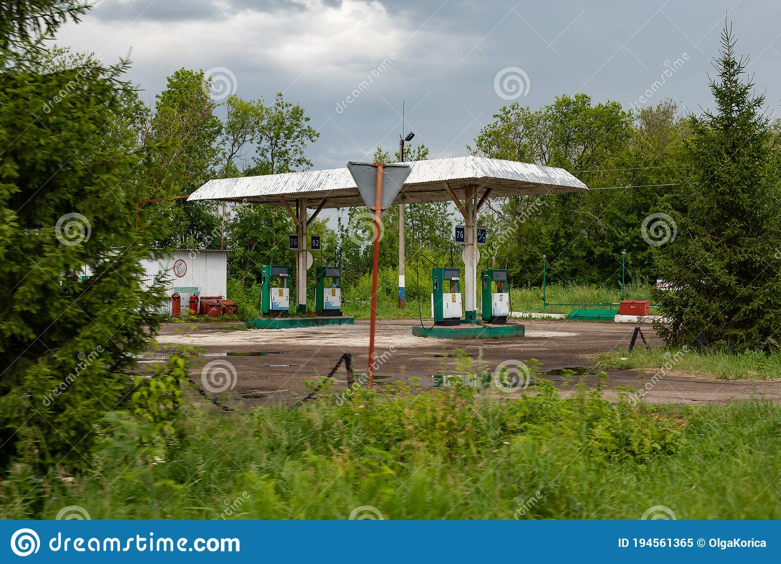 Nizhny Novgorod Russia July 9 2020 Empty Old Rural Gas Station Dispensers With Gasoline And Diesel Fuel An Abandoned Fuel Editorial Image Image Of Liquid Auto 194561365