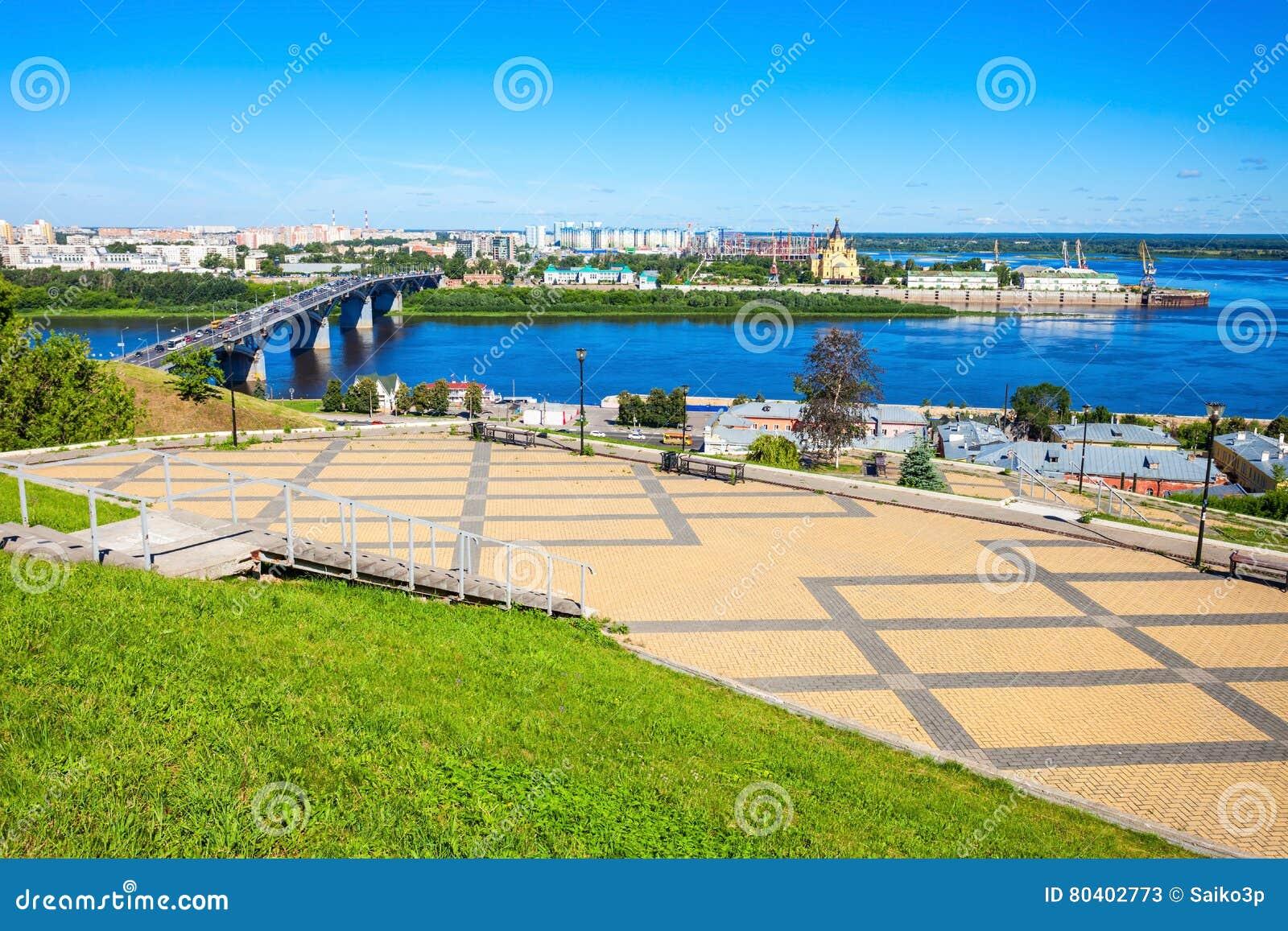 Nizhny Novgorod widok z lotu ptaka