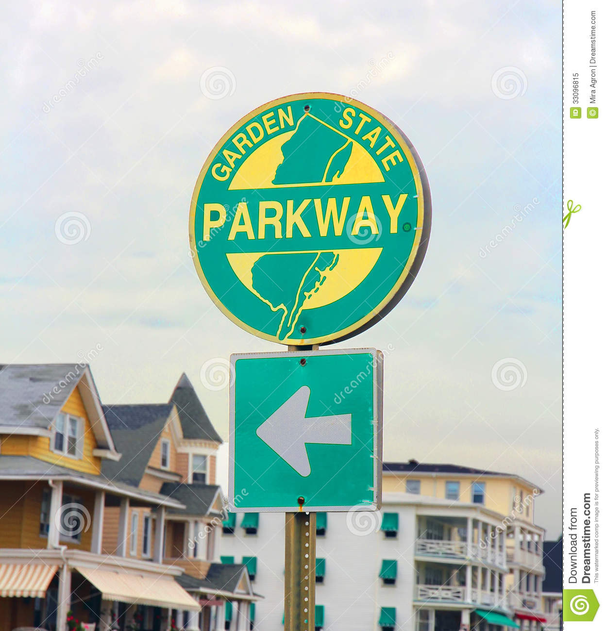 Nj Parkway Sign Royalty Free Stock Photo Image 33096815