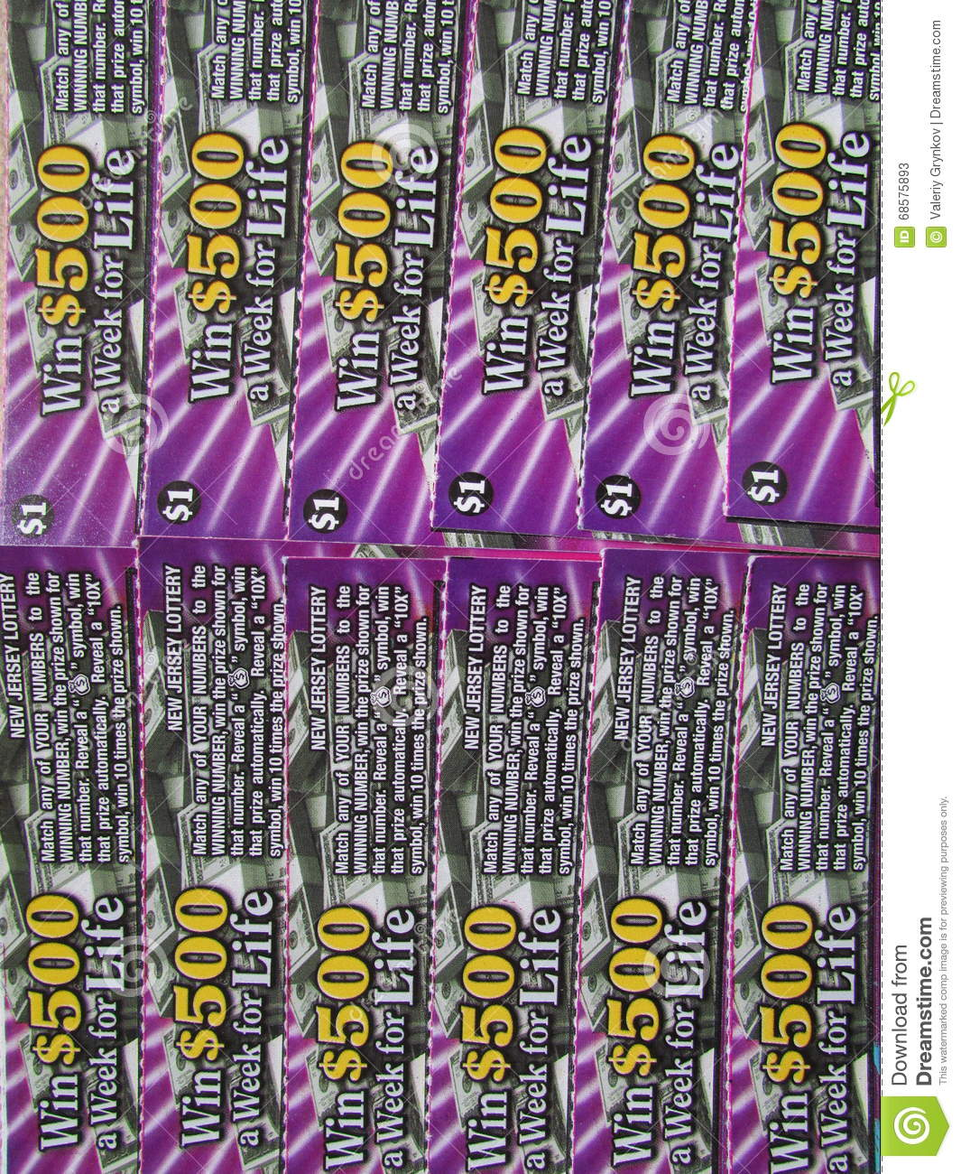 NJ Scratch Off Lottery Tickets, USA  Г  Editorial Stock Photo