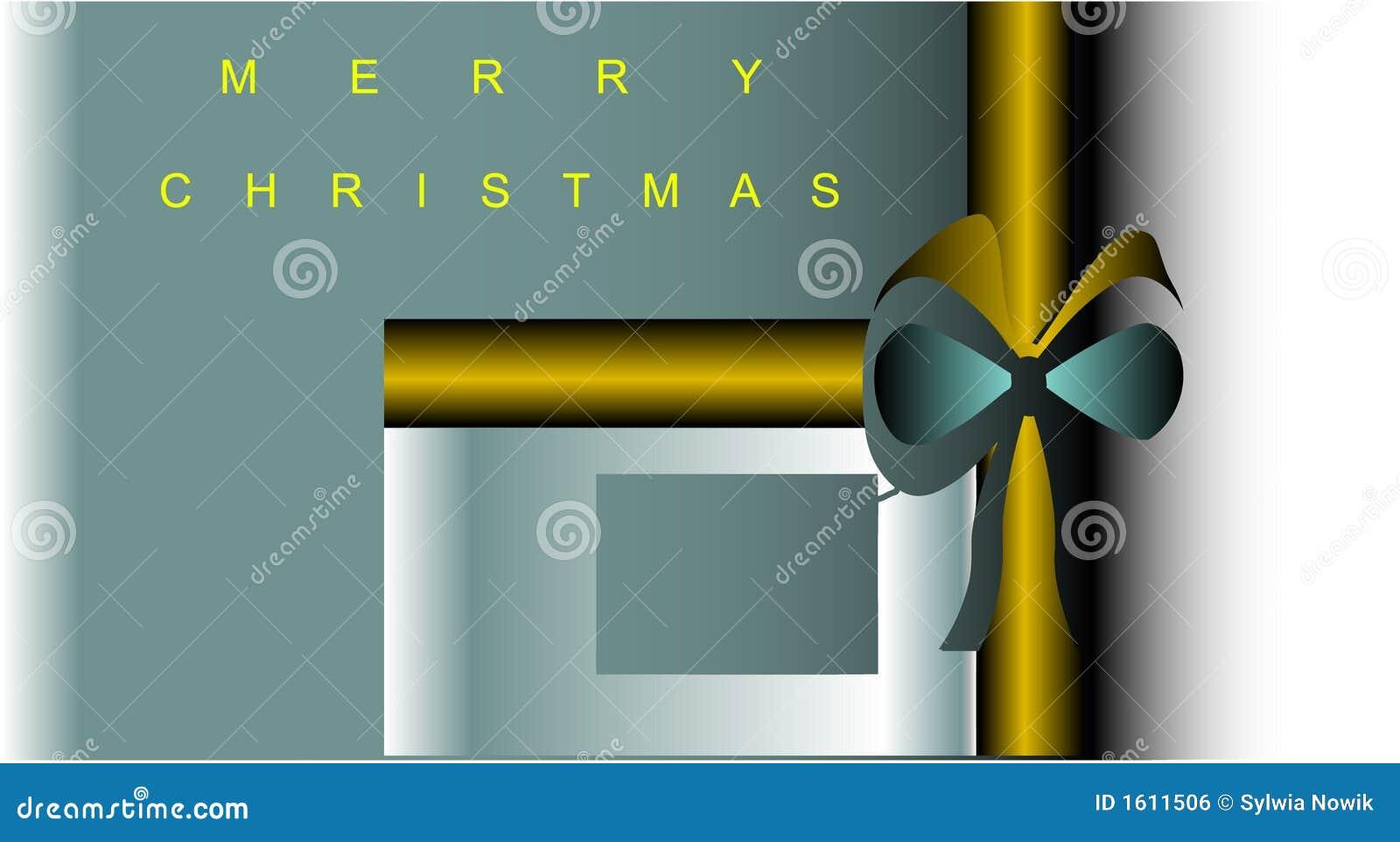 Noël actuel de cadeau de carte postale