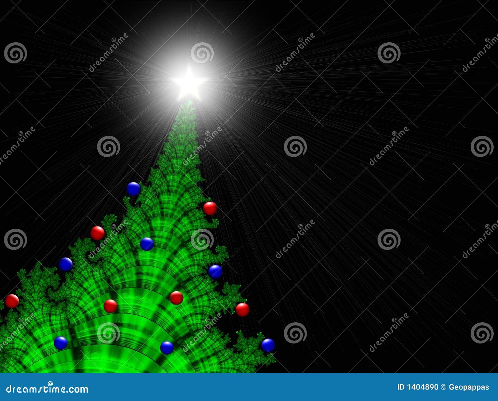 Noël-Arbre avec des Noël-Ornements