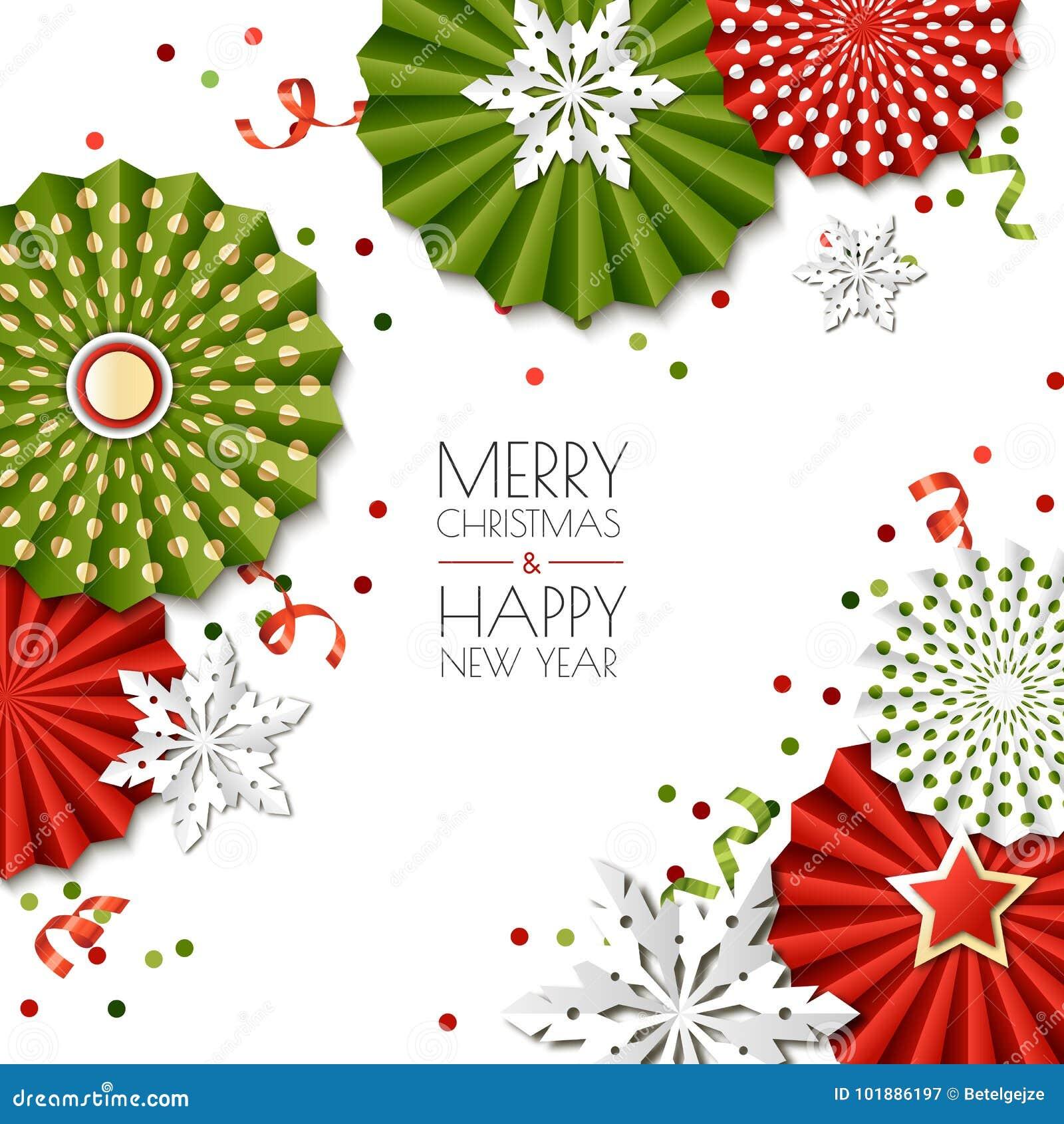 Noël Carte De Voeux D An Neuf étoiles Et Flocons De Neige