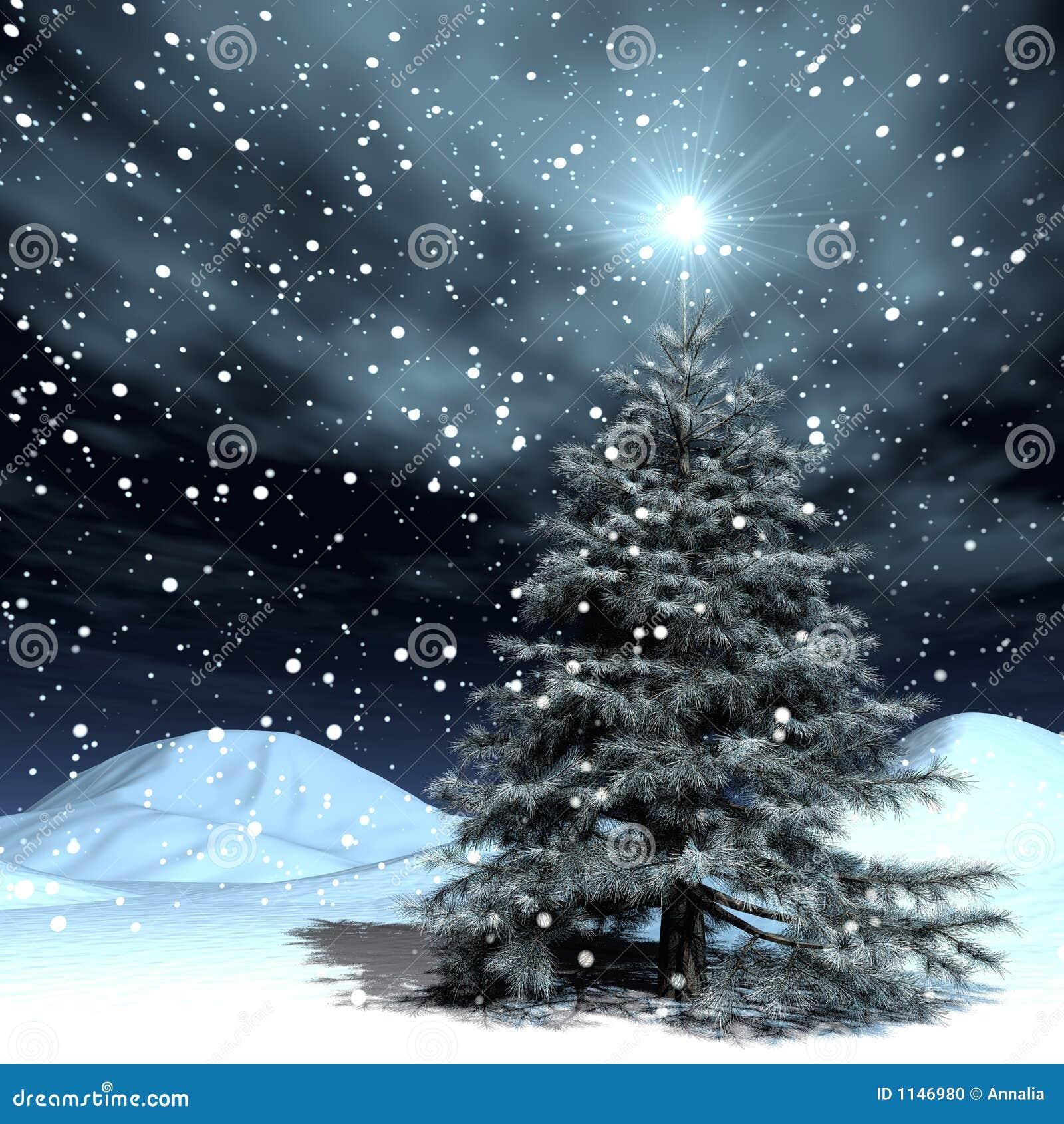 Noël de chute de neige