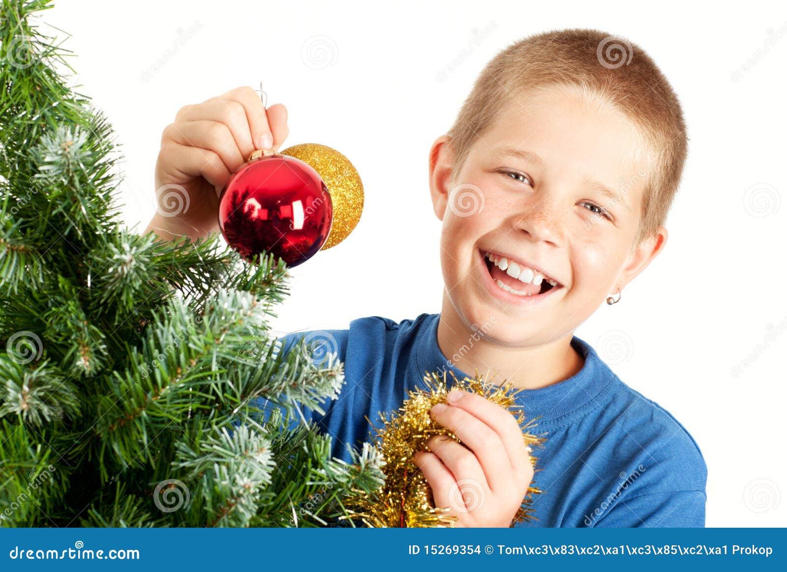Noël et jeune garçon