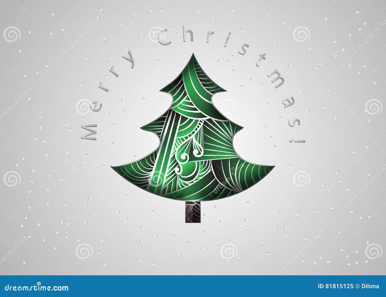 Ma Carte De Noel.Noël Ma Version De Vecteur D Arbre De Portefeuille Carte De