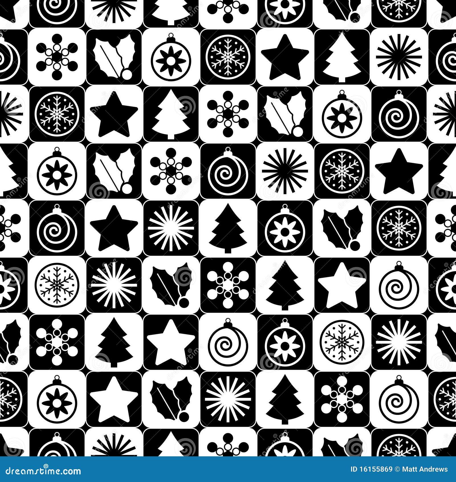 Noël Noir Et Blanc Sans Joint Illustration De Vecteur
