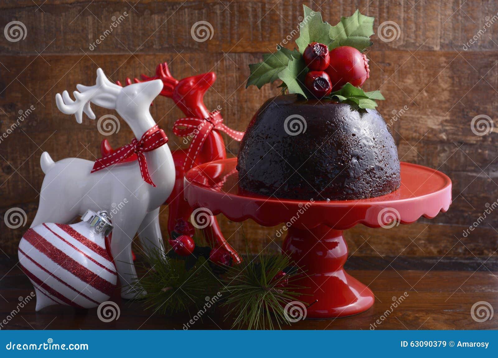 Download Noël Traditionnel Plum Pudding Image stock - Image du vacances, salutations: 63090379