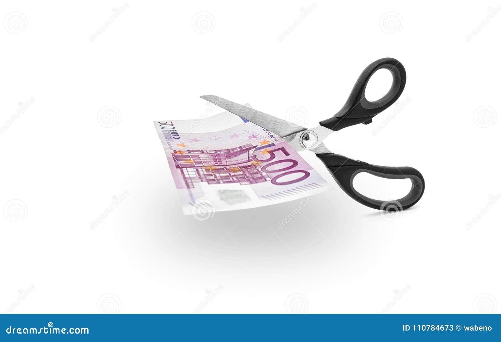 Nożyce ciie pieniądze