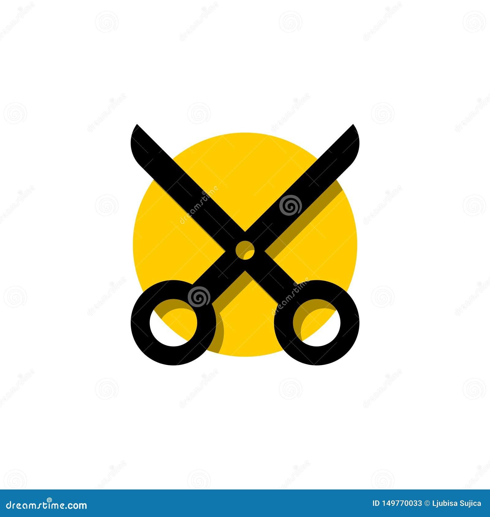 Nożyce dla tnącej płaskiej ikony dla apps i stron internetowych