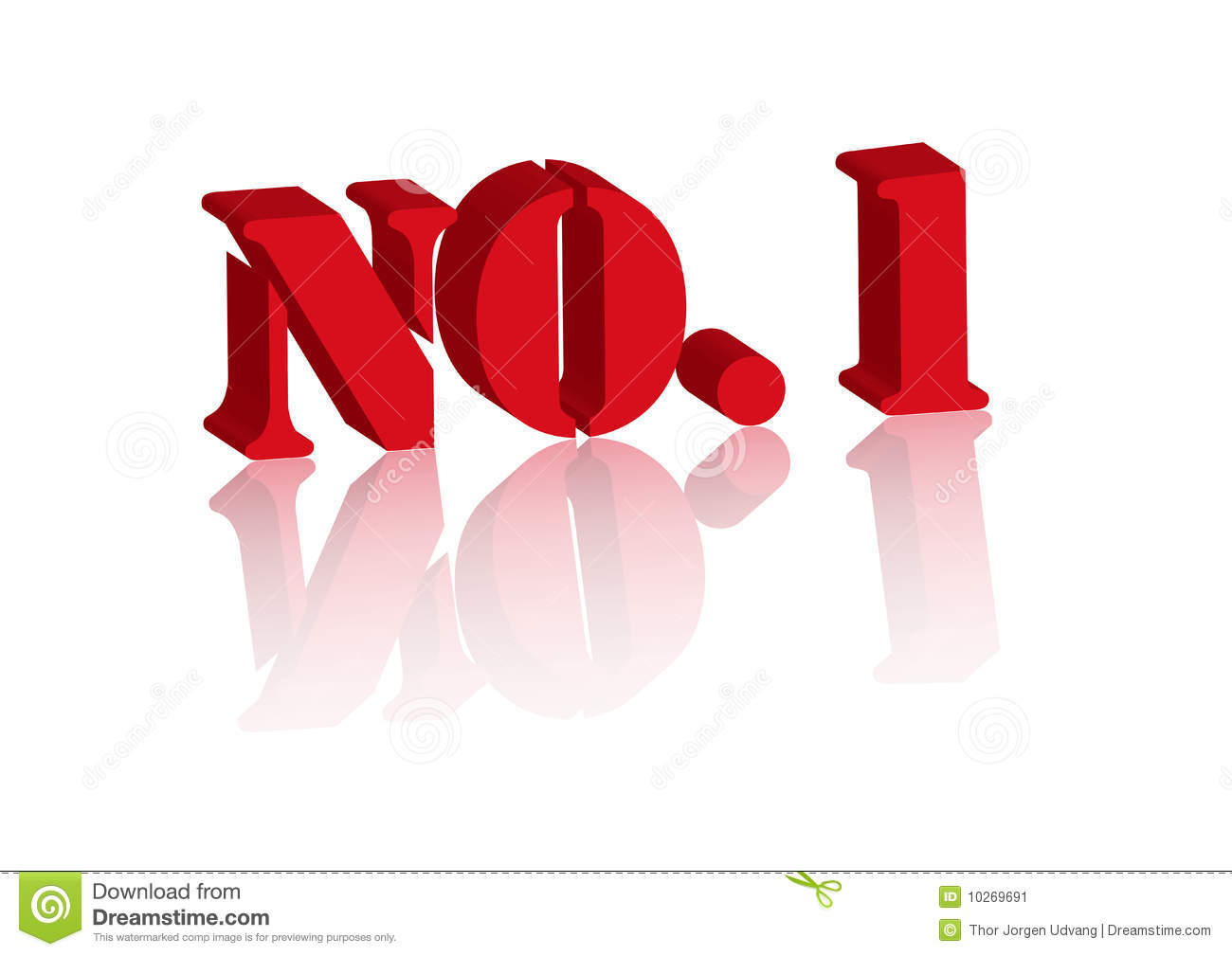 no  1 on white background stock vector  illustration of