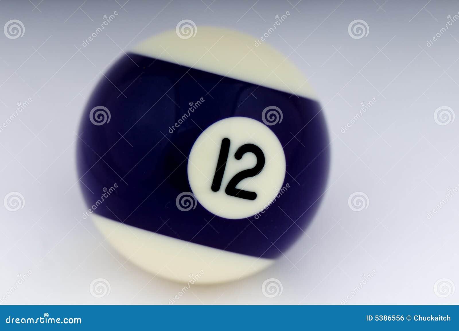 No 12 Pool Ball