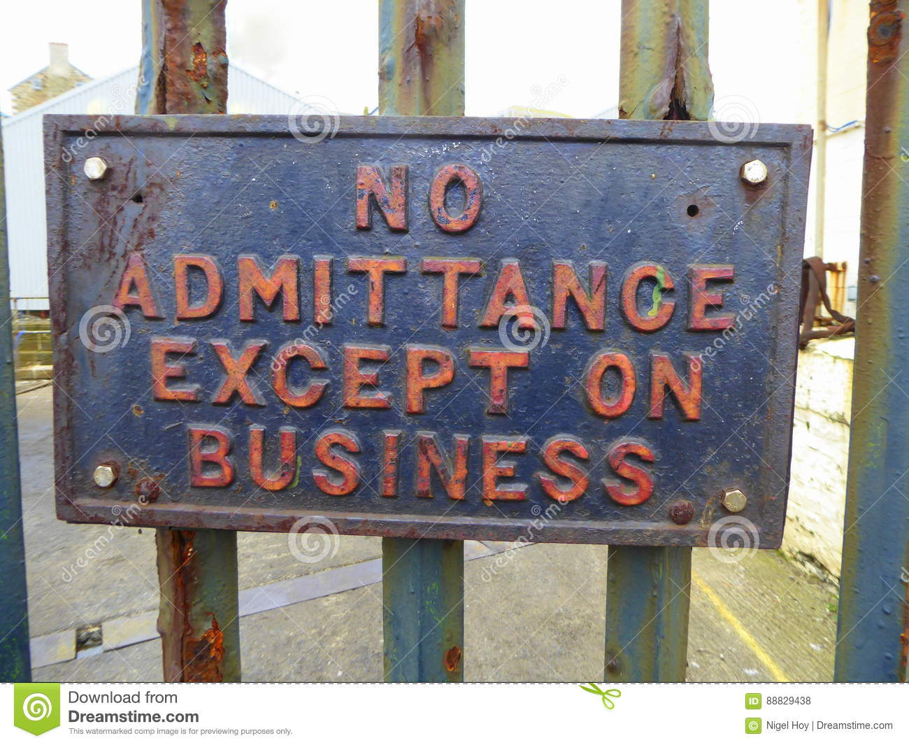 Download No admittance sign stock photo. Image of instruction - 88829438
