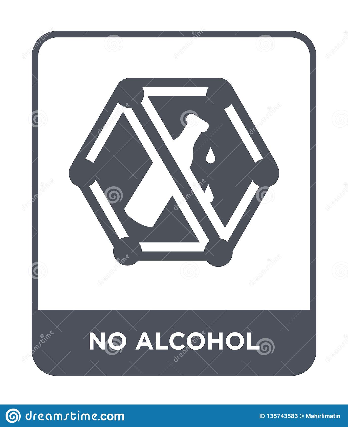 no alcohol icon in trendy design style. no alcohol icon isolated on white background. no alcohol vector icon simple and modern