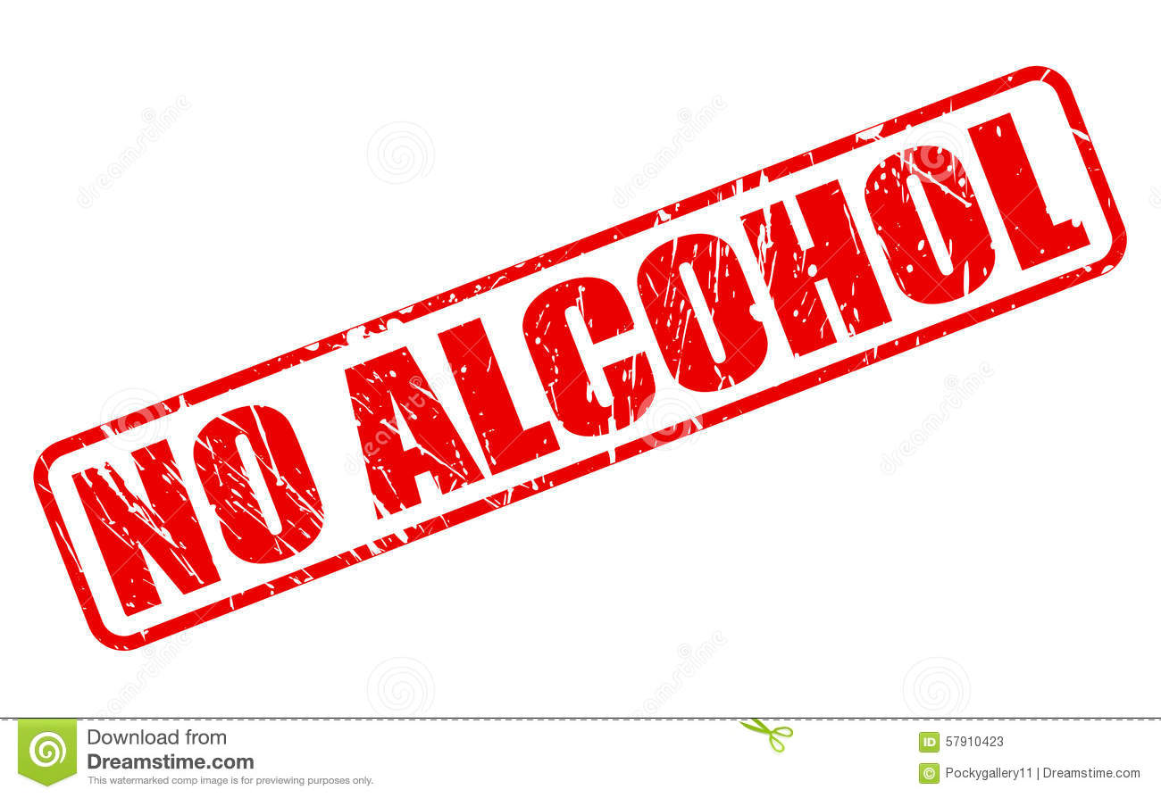 NO ALCOHOL Red Stamp Text Stock Illustration - Image: 57910423