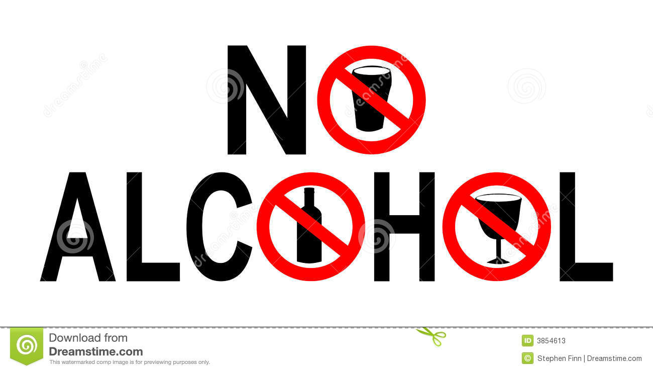 No Alcohol Sign Stock Vector. Illustration Of Intoxicating