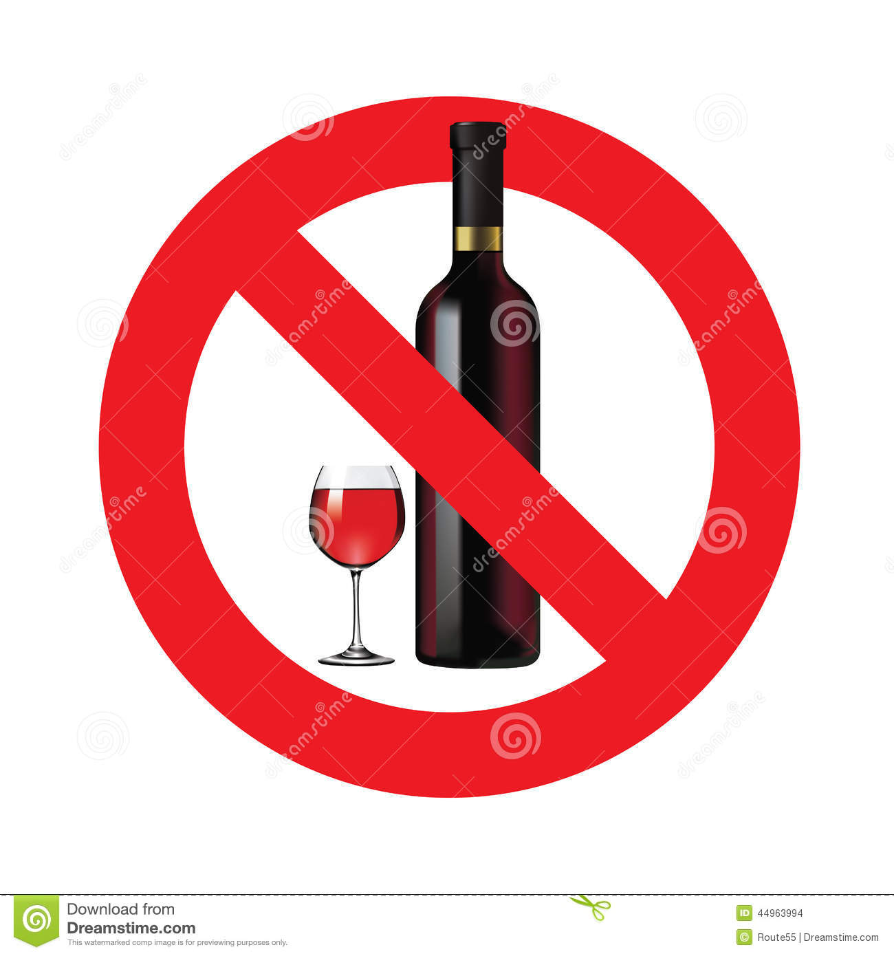 No Alcohol Sign Stock Vector Image 44963994