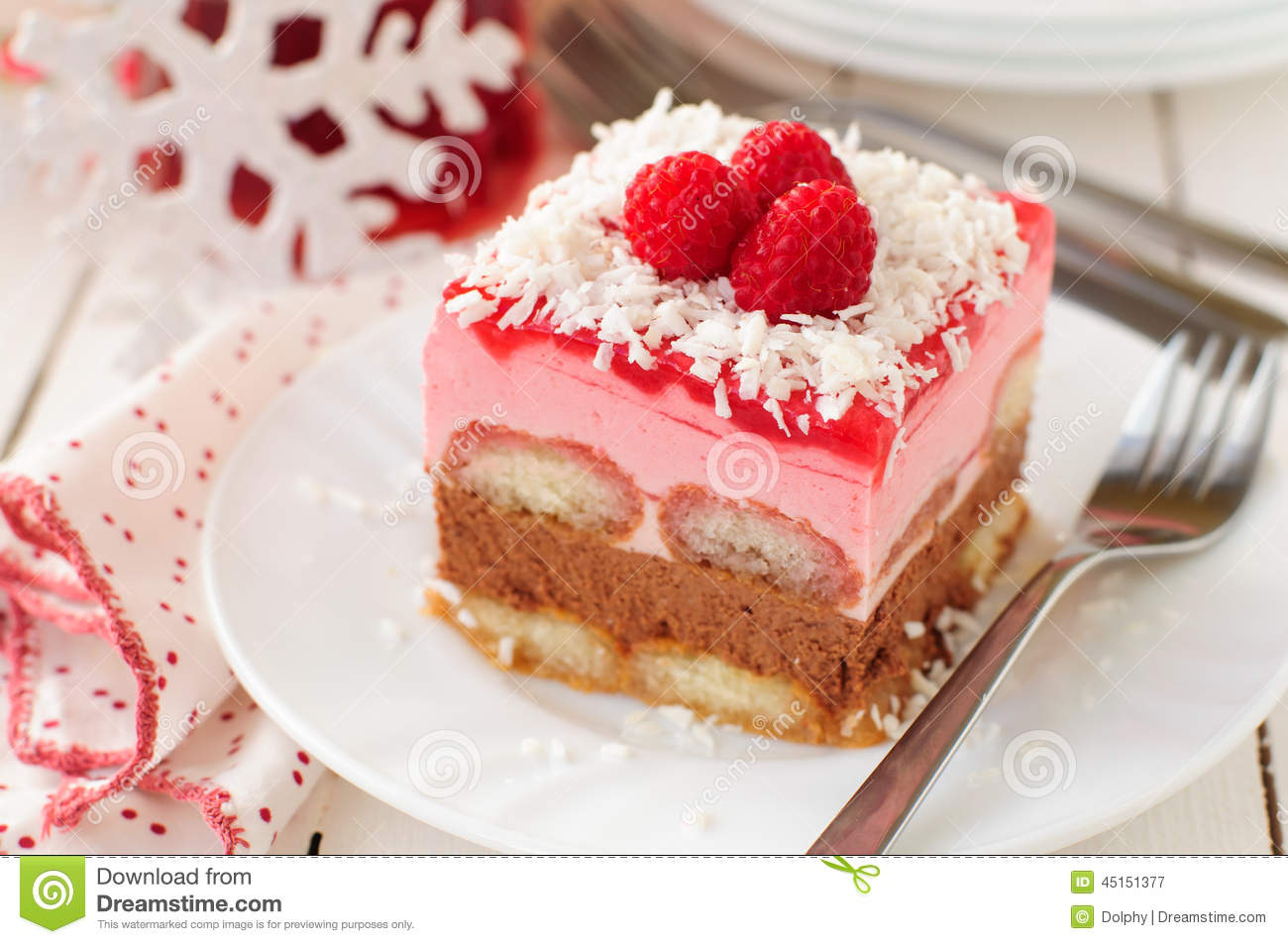 Coconut And Raspberry Layer Cake