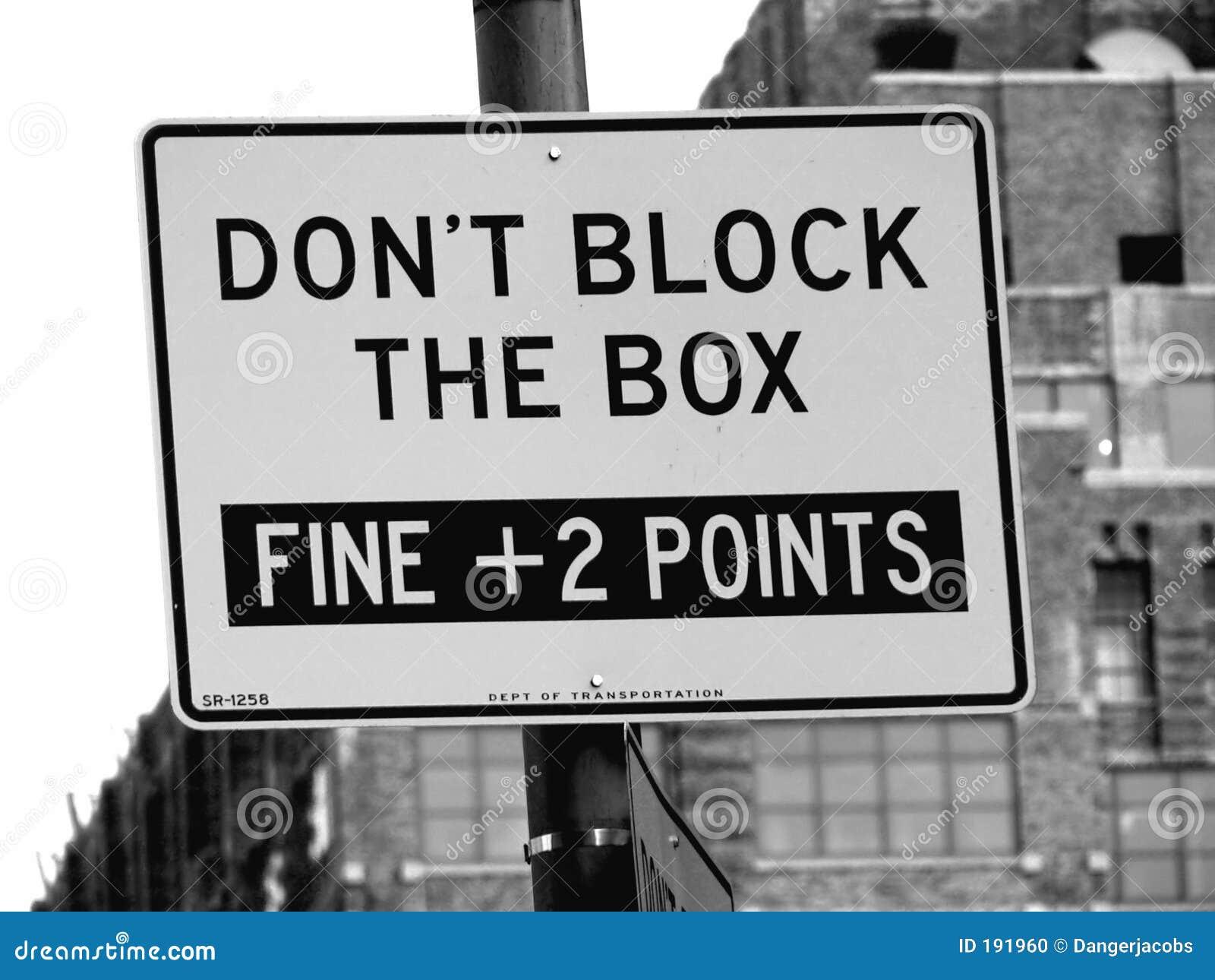 No bloquee la calle del rectángulo firman adentro Manhattan, New York City