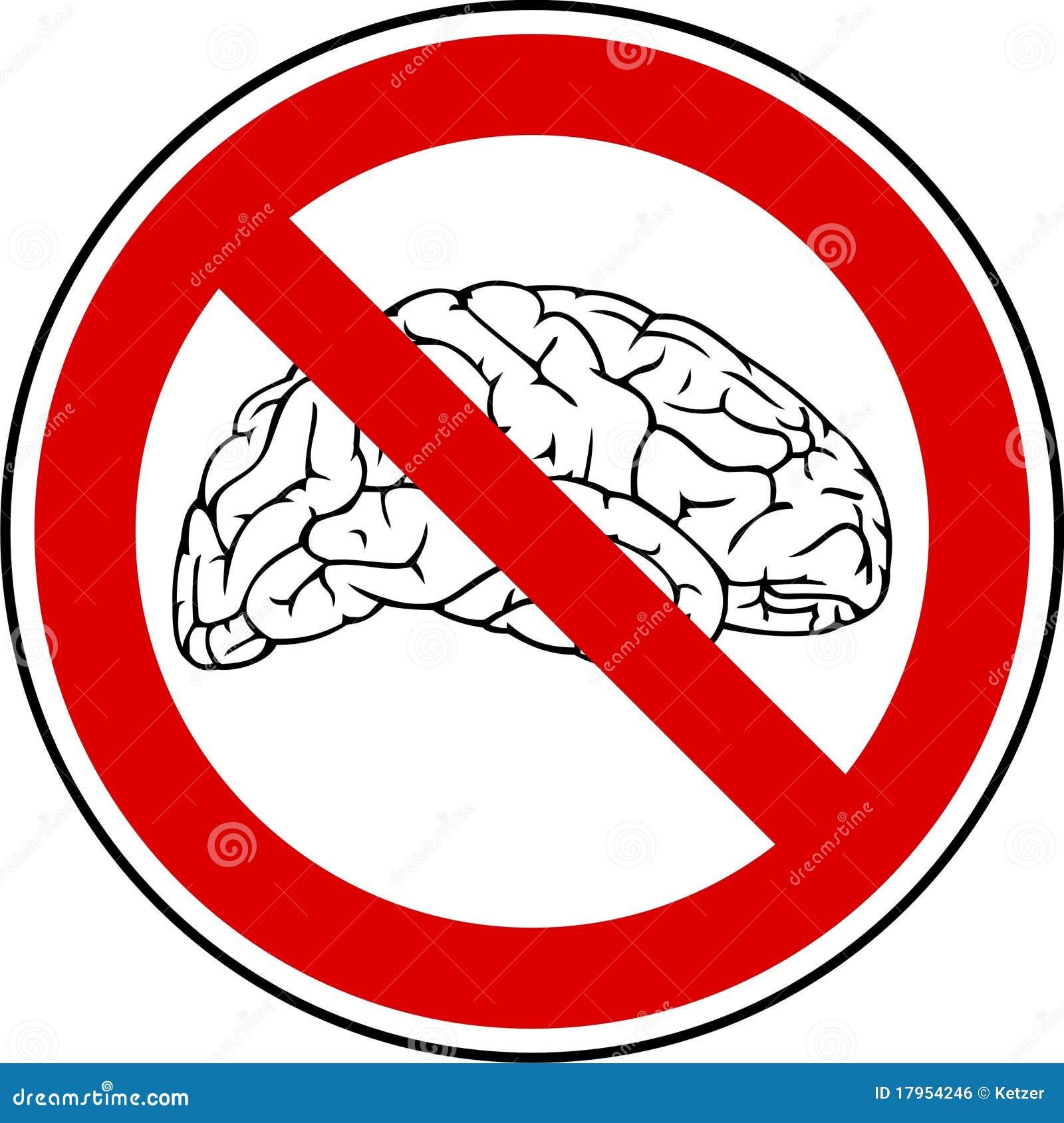 No Brain - No Pain Royalty Free Stock Image - Image: 17954246
