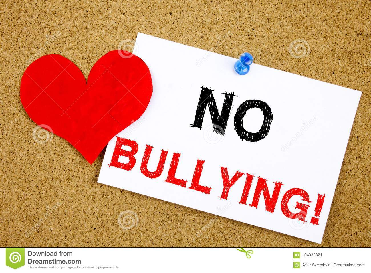 no bullying hand writing text caption inspiration showing