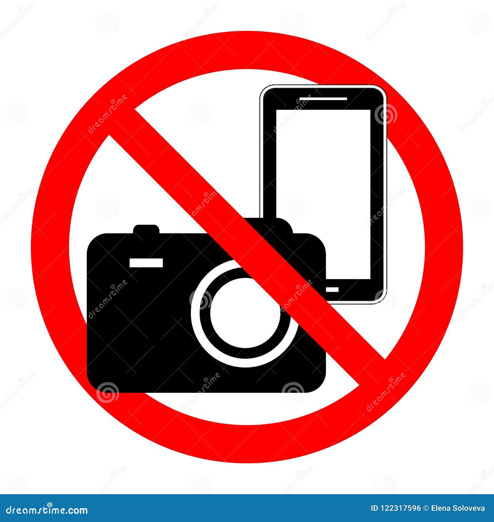 No camera symbol on white background. vector illustration.