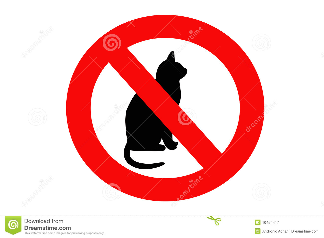 no cat sign stock illustration illustration of black cats clip art free cat clipart funny