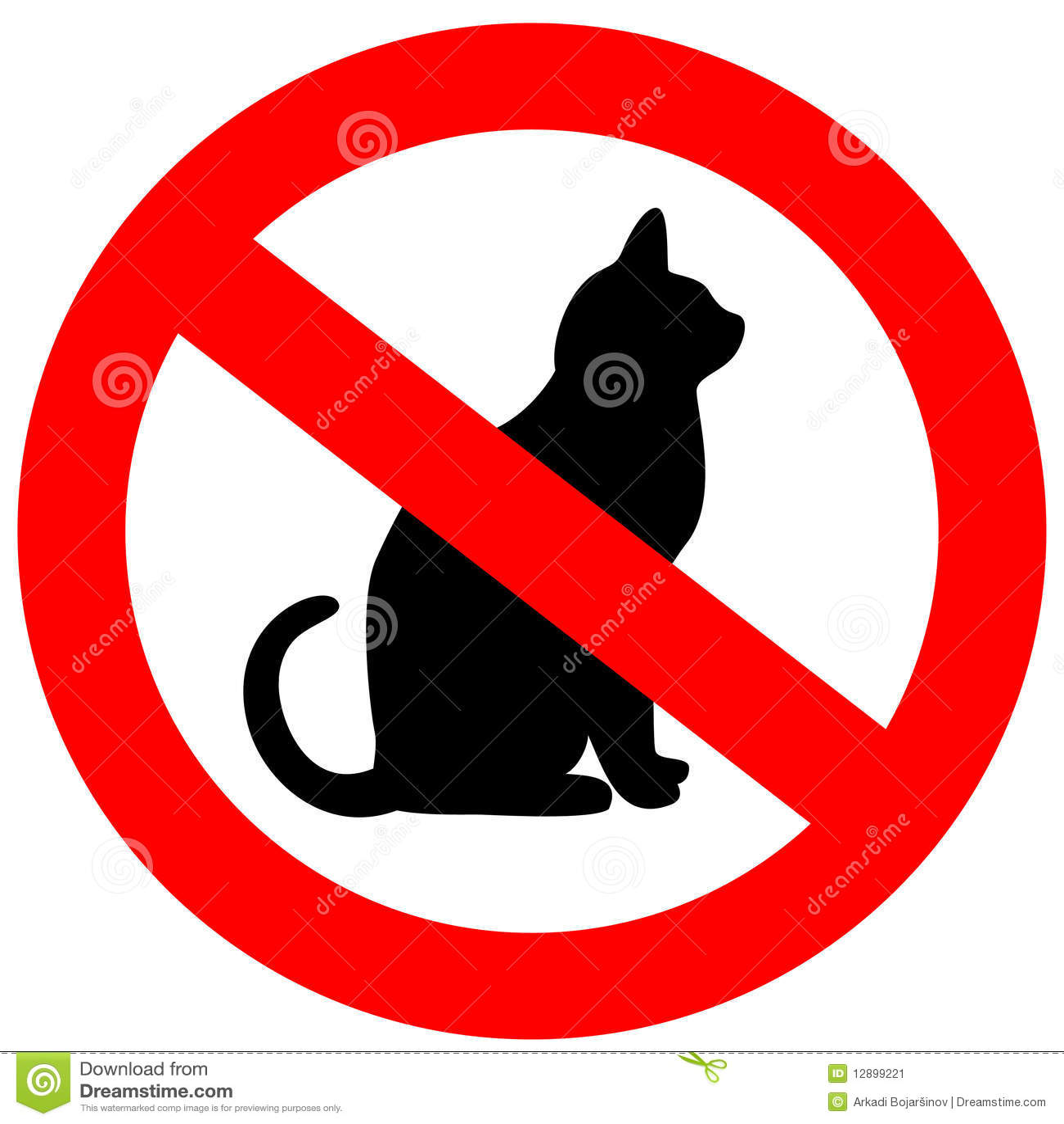No Cats Stock Image - Image: 12899221