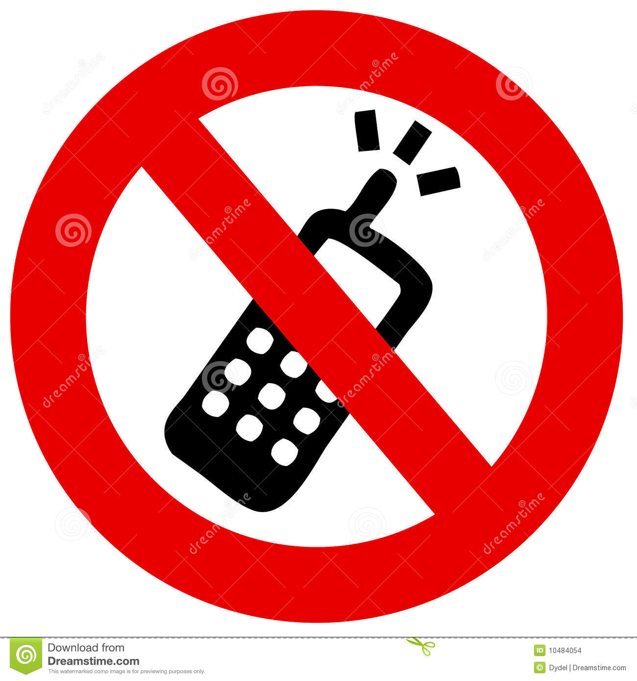 Stock Images: No cell phone prohibited forbidden not ...